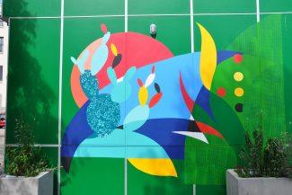 Peinture réalisée avec les élèves