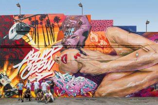 The Lost Angel (The Container Yard. Los Angeles, 2016) - Ashop Crew : Fluke, Zek, Dodo Ose, Ankhone, Earth Crusher, Benny Wilding, 123Klan et OG Slick - Crédit photo : Ashop Productions