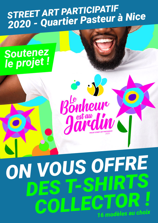 Flyer Tshirts collector Projet Pasteur 2020